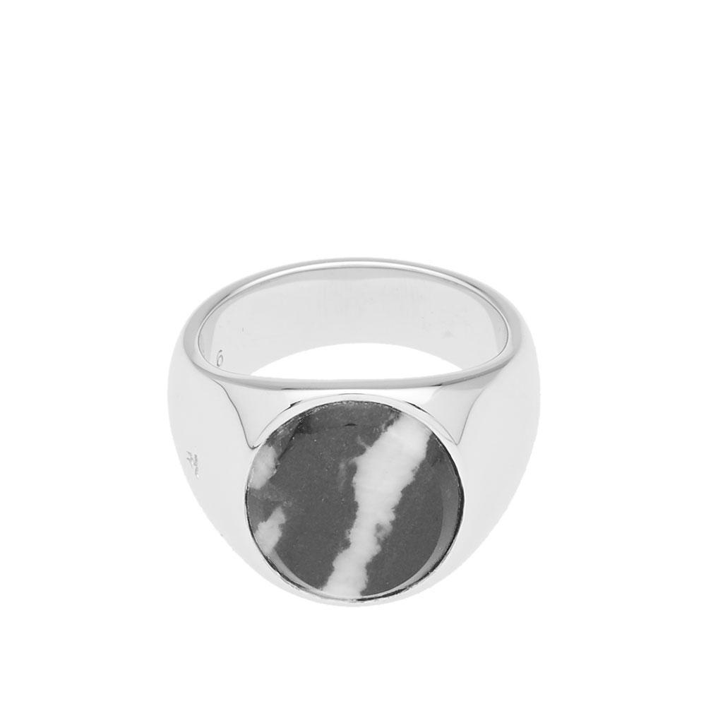 Tom Wood Zebra Marble signet ring HBXATjVvs