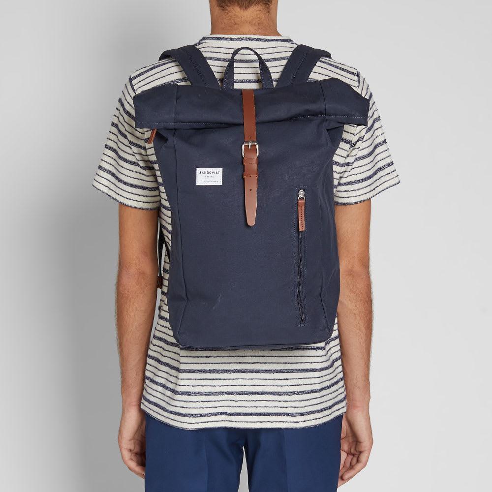 Sandqvist Synthetic Dante Rolltop Backpack in Blue for Men