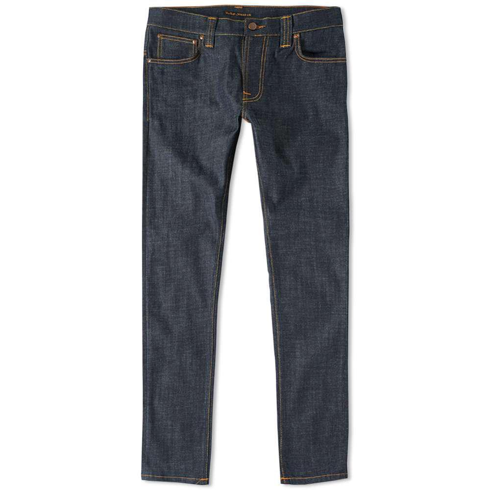 lyst nudie jeans nudie thin finn jean in blue for men. Black Bedroom Furniture Sets. Home Design Ideas