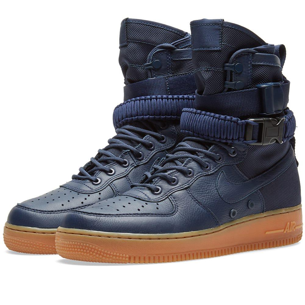 Nike Leather Sf Air Force 1 Sneakers in