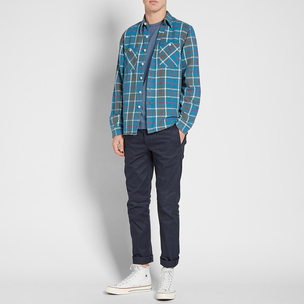RRL Cotton Cody Work Shirt in Blue for Men