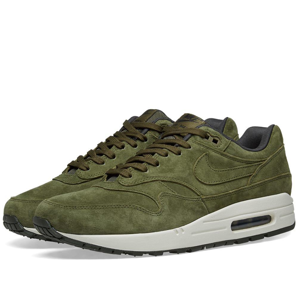 wholesale dealer cd06e 13bc4 Nike - Green Air Max 1 Premium for Men - Lyst