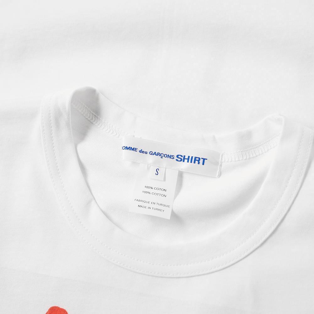 Comme des Garçons Cotton Paint Spots Design T-shirt in White for Men