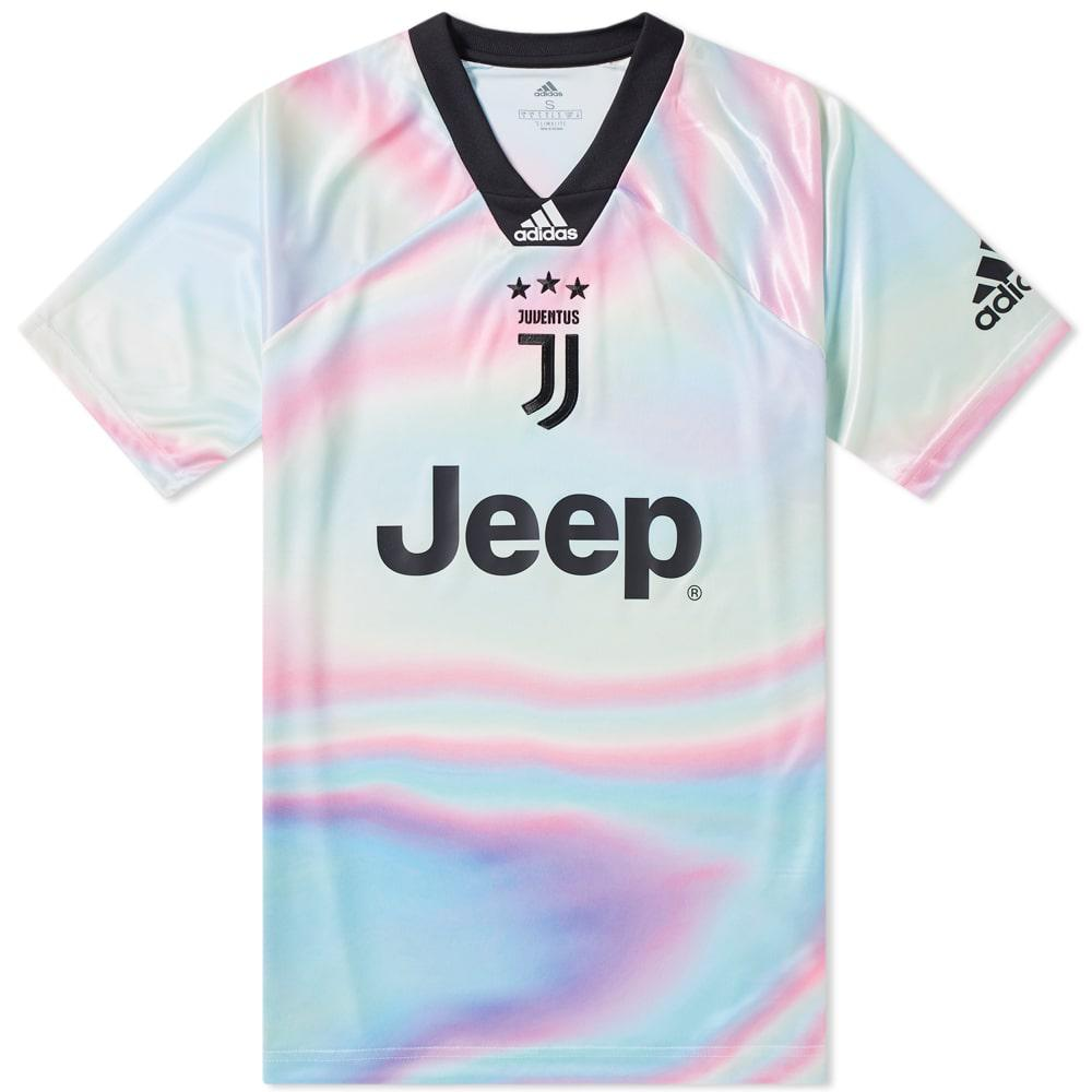 ac43e9123 adidas Originals Juventus Football Jersey in Pink for Men - Lyst