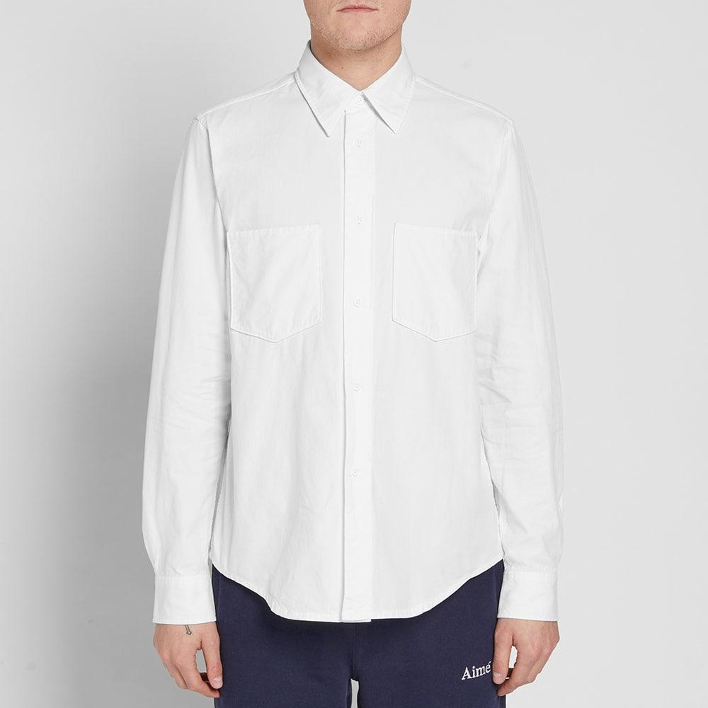 Acne Studios Lincoln Canvas Shirt in White for Men
