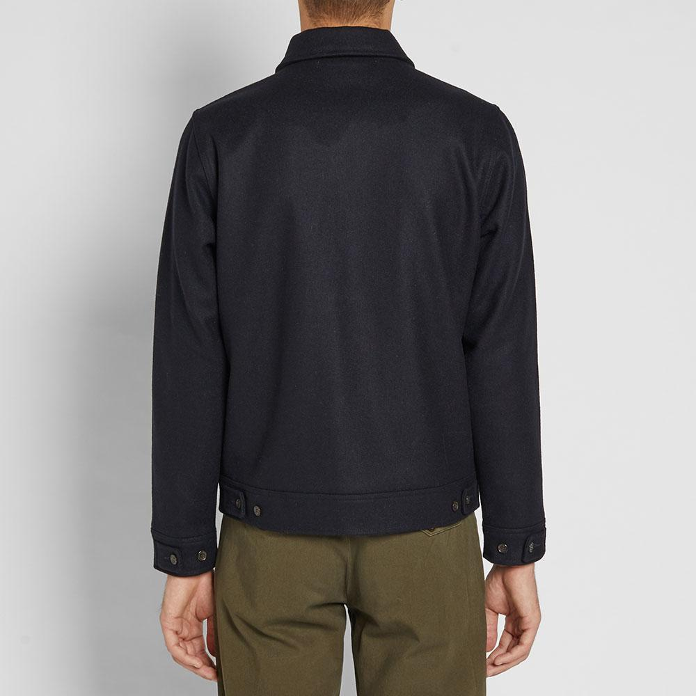 Universal Works Wool Battle Jacket in Blue for Men