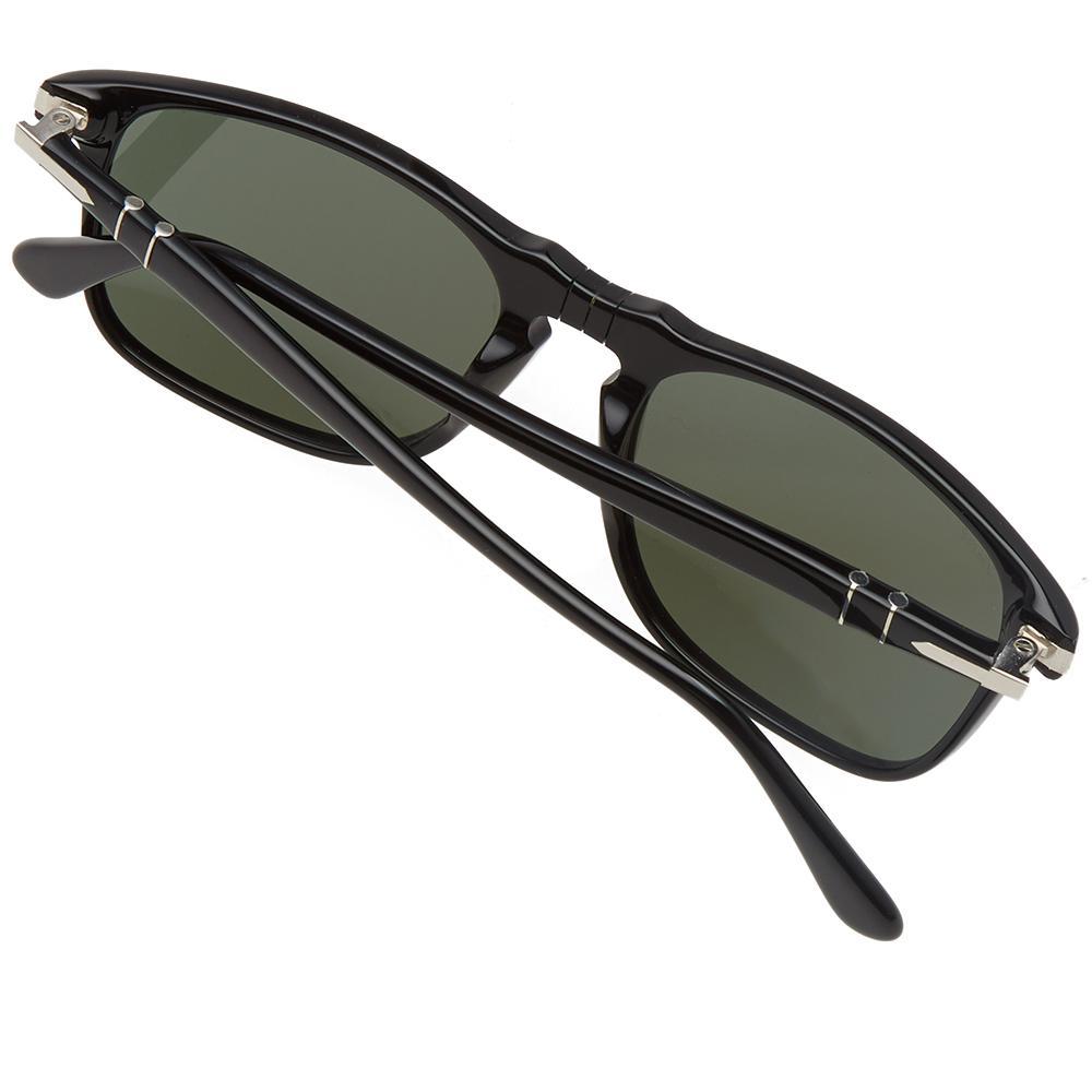 Persol 3059s Square Framed Aviator Sunglasses in Black for Men