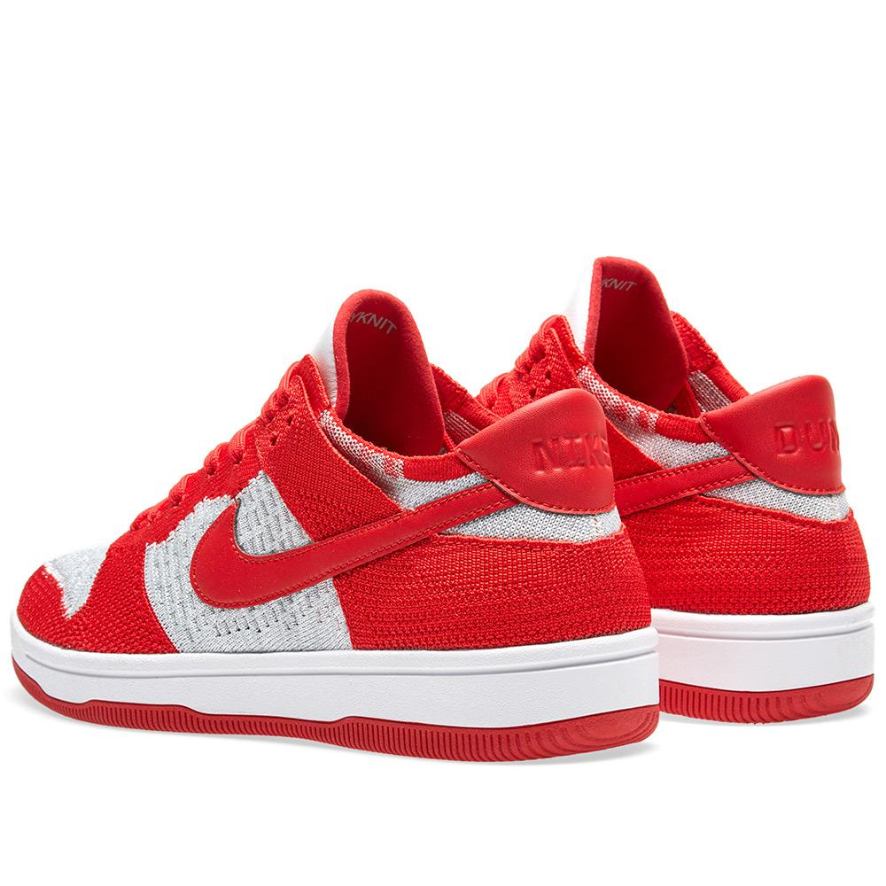 Nike Leather Dunk Flyknit in Red for Men