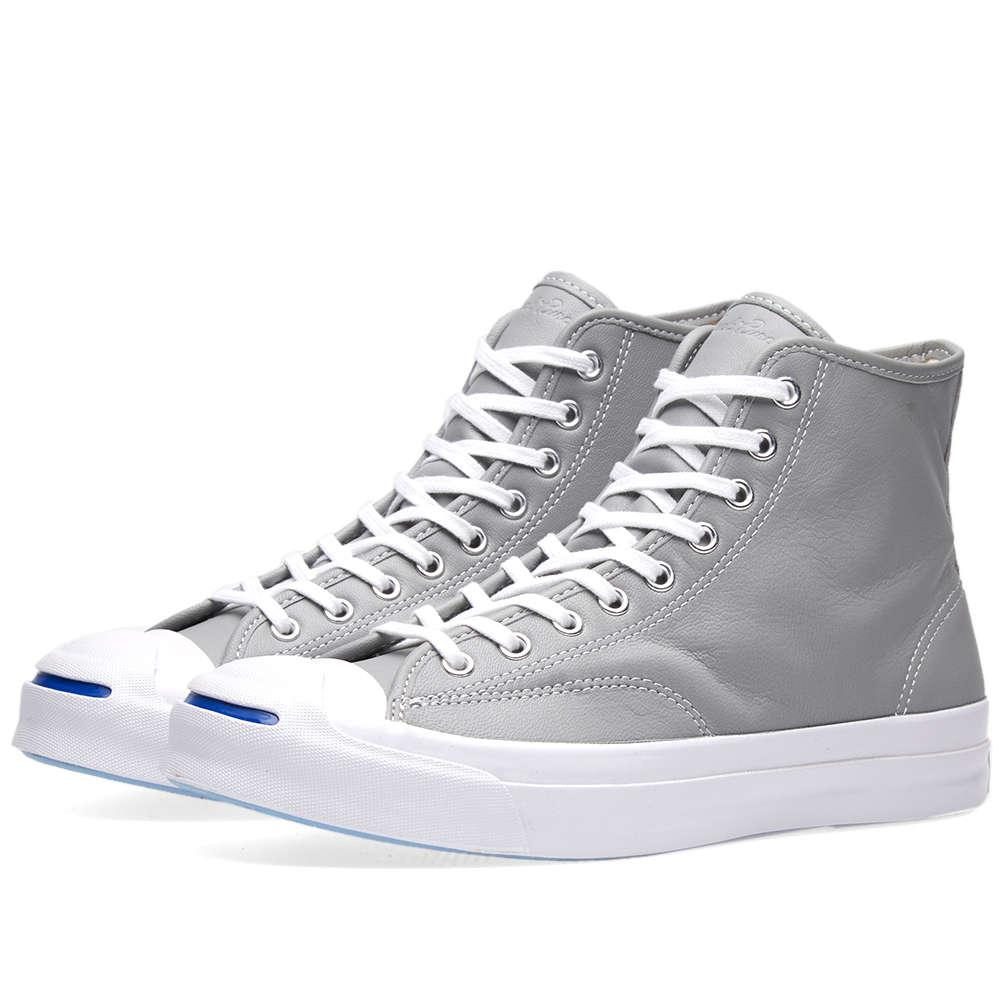 18d5f68077ce29 Lyst - Converse Jack Purcell Signature Hi Leather in Gray .