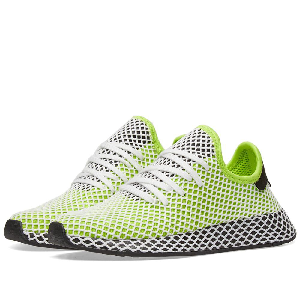 f74cf56b4 authentic adidas hamburg gold and black 46d5a a2422  switzerland lyst adidas  deerupt runner in green for men dd8e9 6a682
