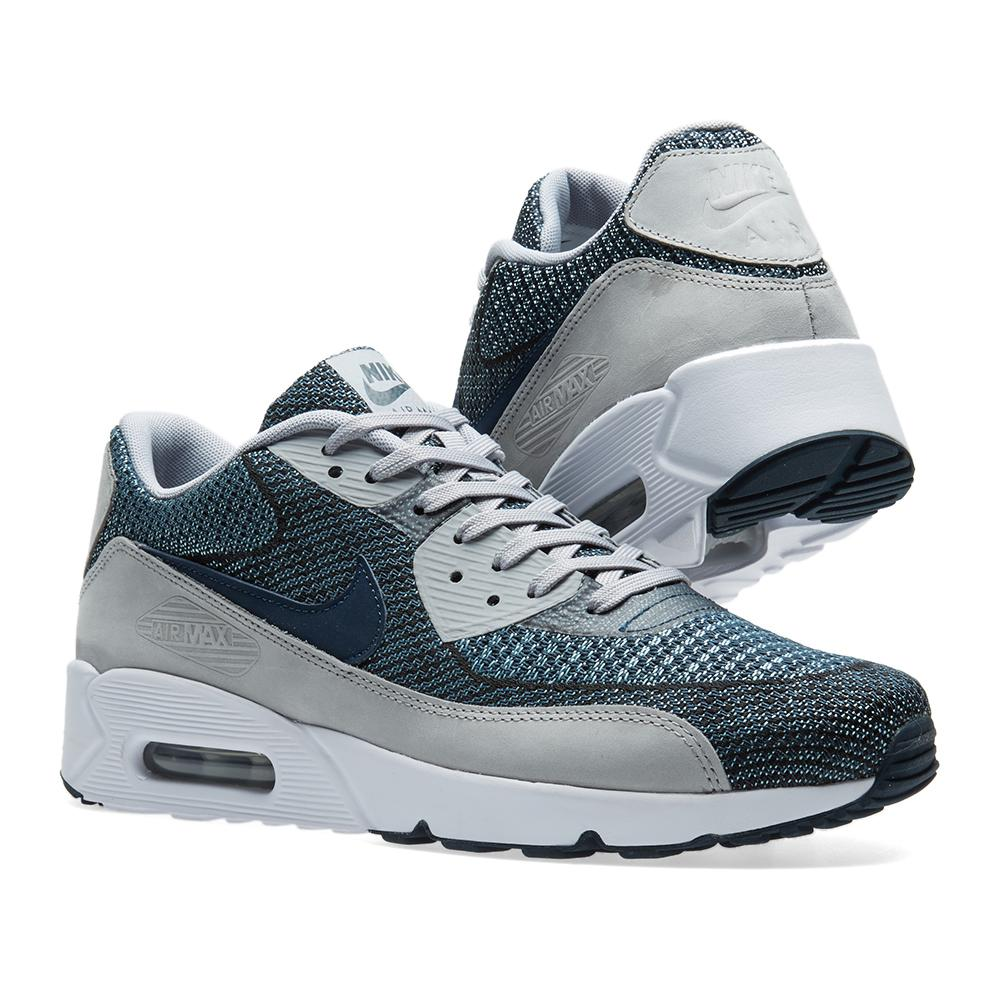 hot sales bca39 4d3f4 Nike Blue Air Max 90 Ultra 2.0 Jacquard Br for men
