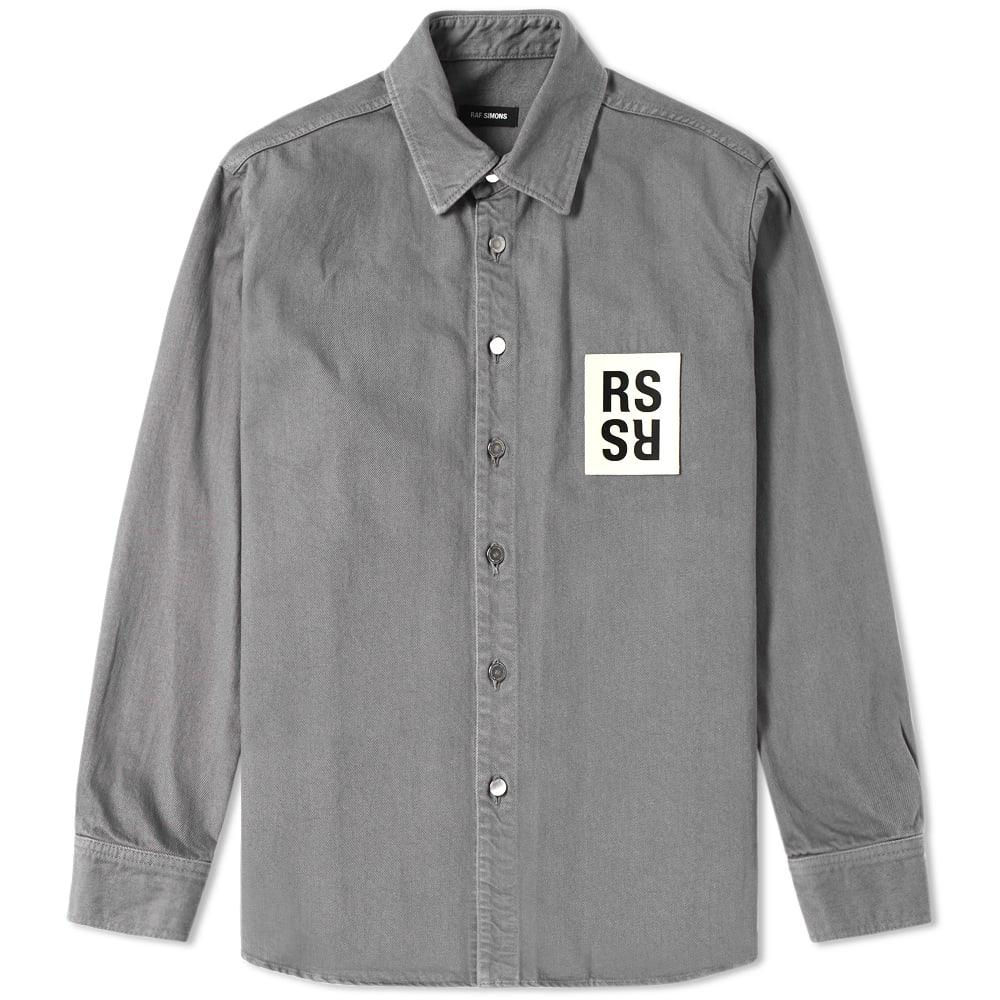 a1af23c4829 Raf Simons Patch Denim Shirt in Gray for Men - Lyst