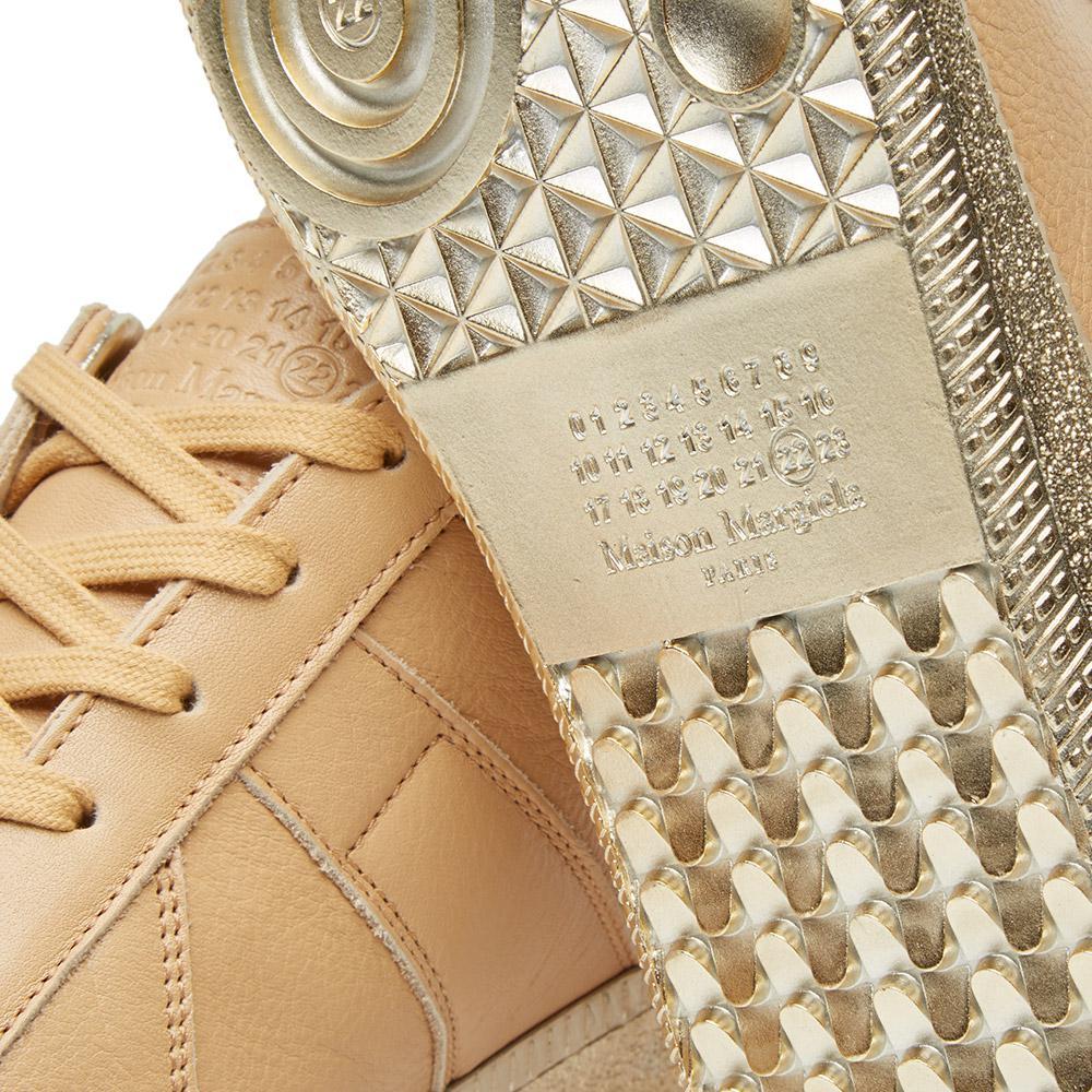 Lyst maison margiela 22 replica low platinum sole for Maison margiela 22