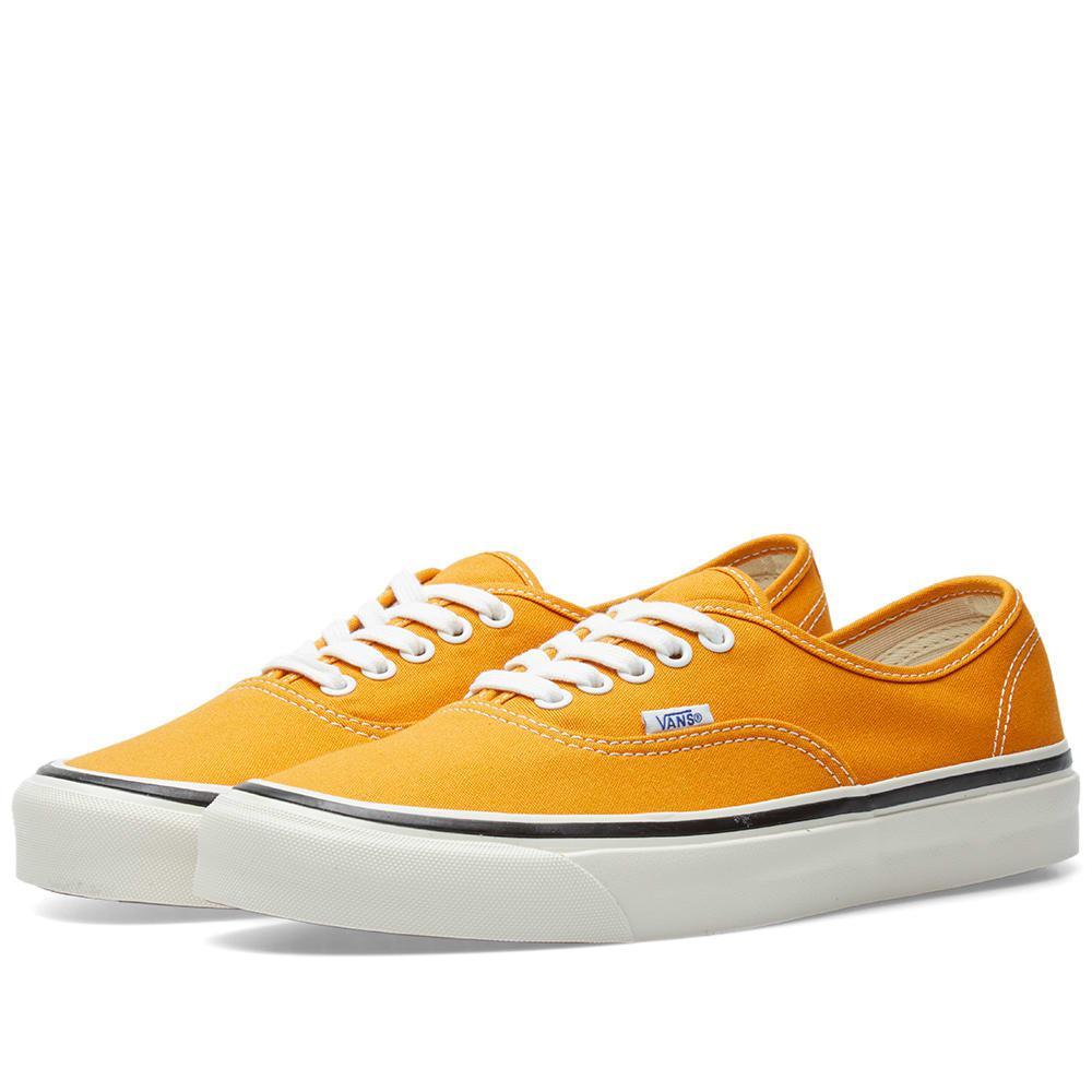 e67e3a75d97 Vans Authentic 44 Dx Anaheim Plimsolls In Yellow Va38enqa7 in Yellow ...