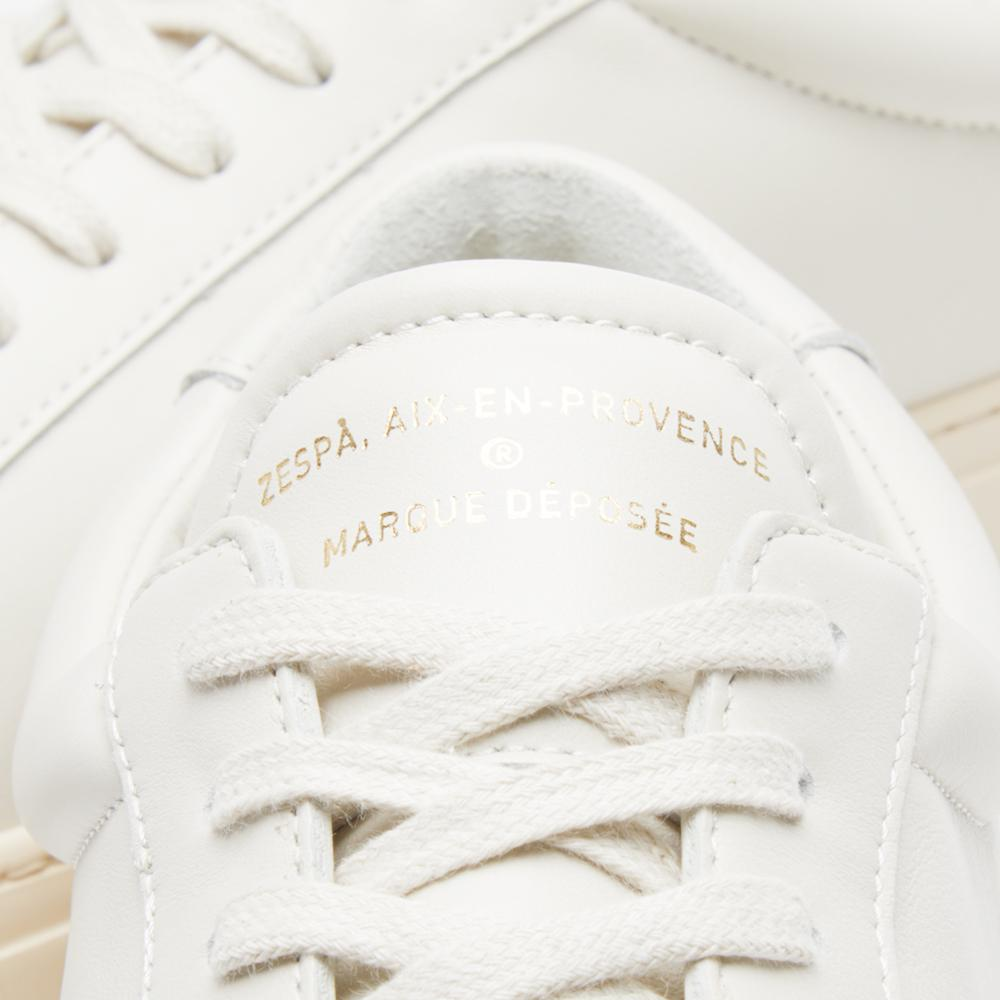 Zespà Leather Zsp4 Hgh Sneaker in White