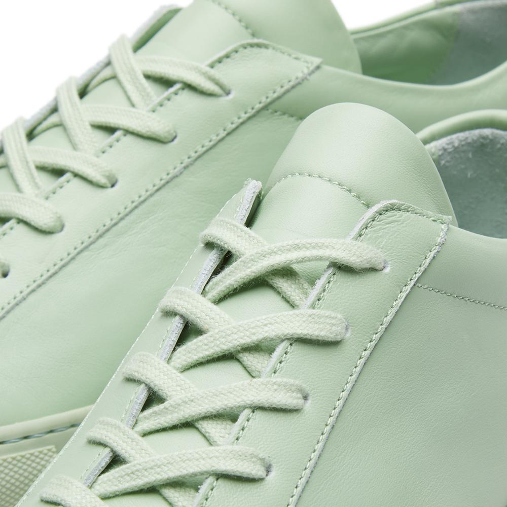 Common Projects Leather 'original Achilles Low' Sneakers in Green for Men