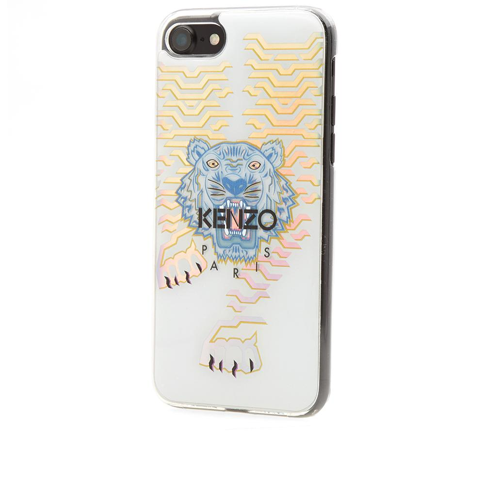 9cfb43b6 KENZO Geo Tiger Iphone 7 Case in White - Lyst