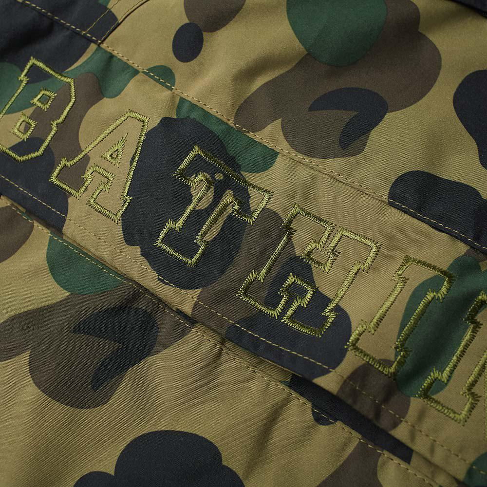 3fb0de870 A Bathing Ape Green 1st Camo Shark Snowboard Jacket for men