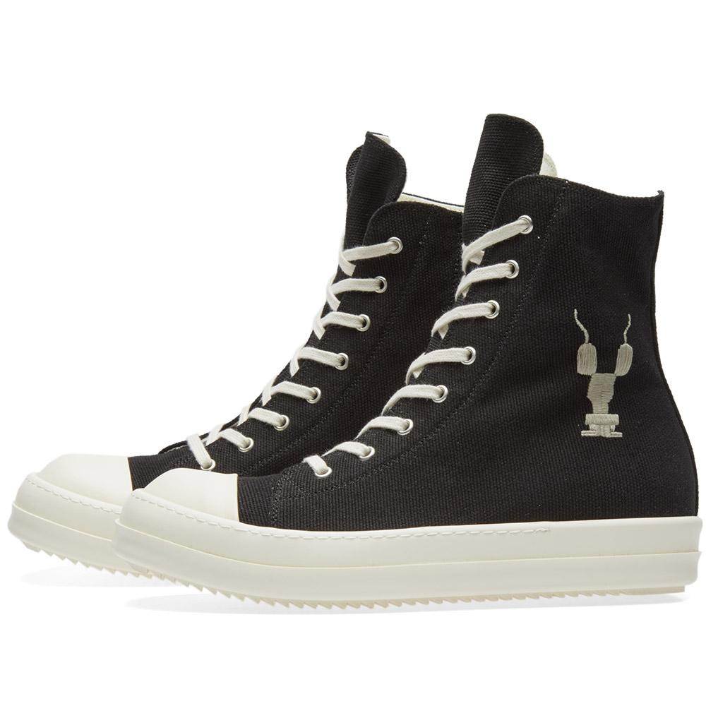 Rick Owens Rubber Drkshdw Embroidered Logo High Sneaker in ...