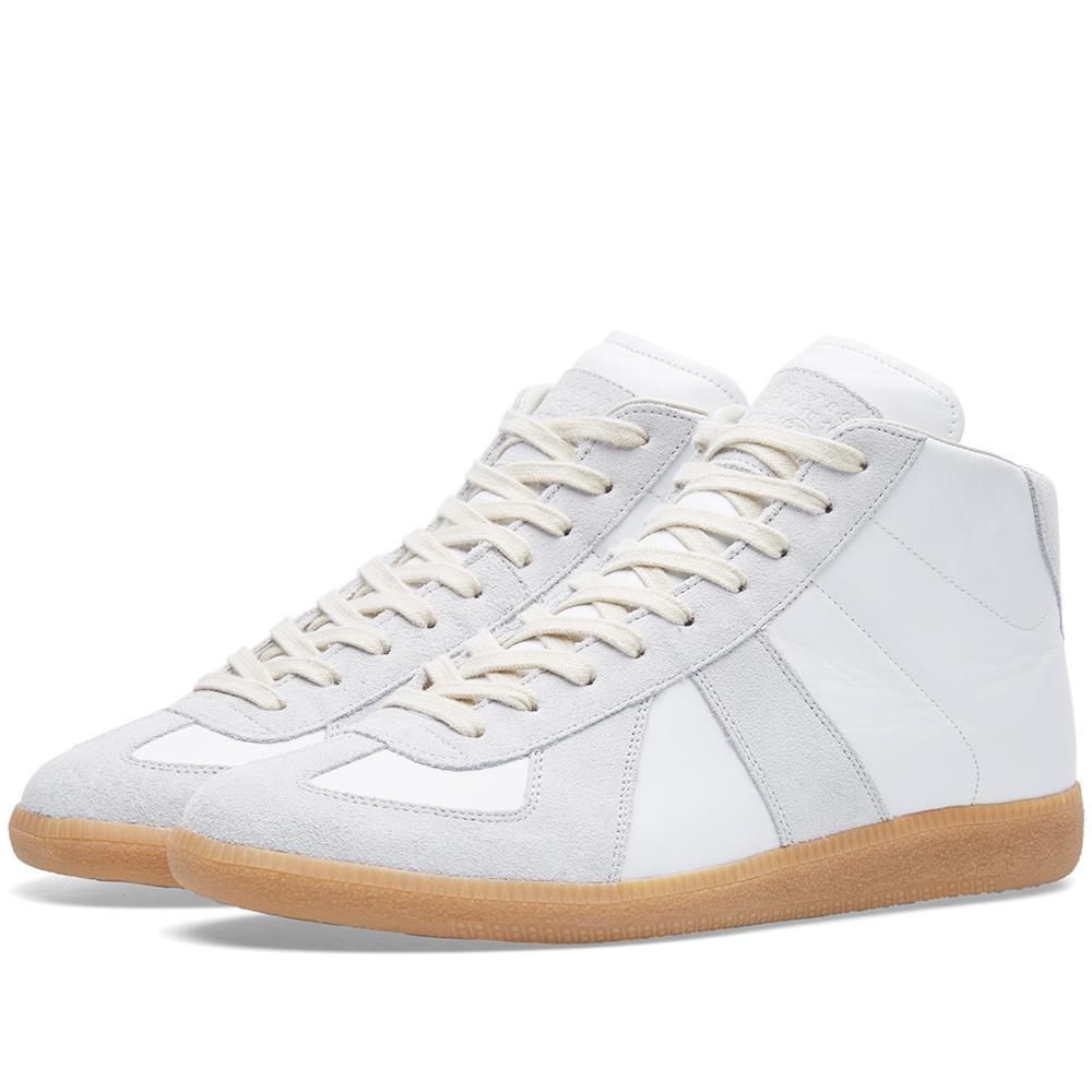 Maison margiela 22 replica high sneaker in white lyst for Maison margiela 22