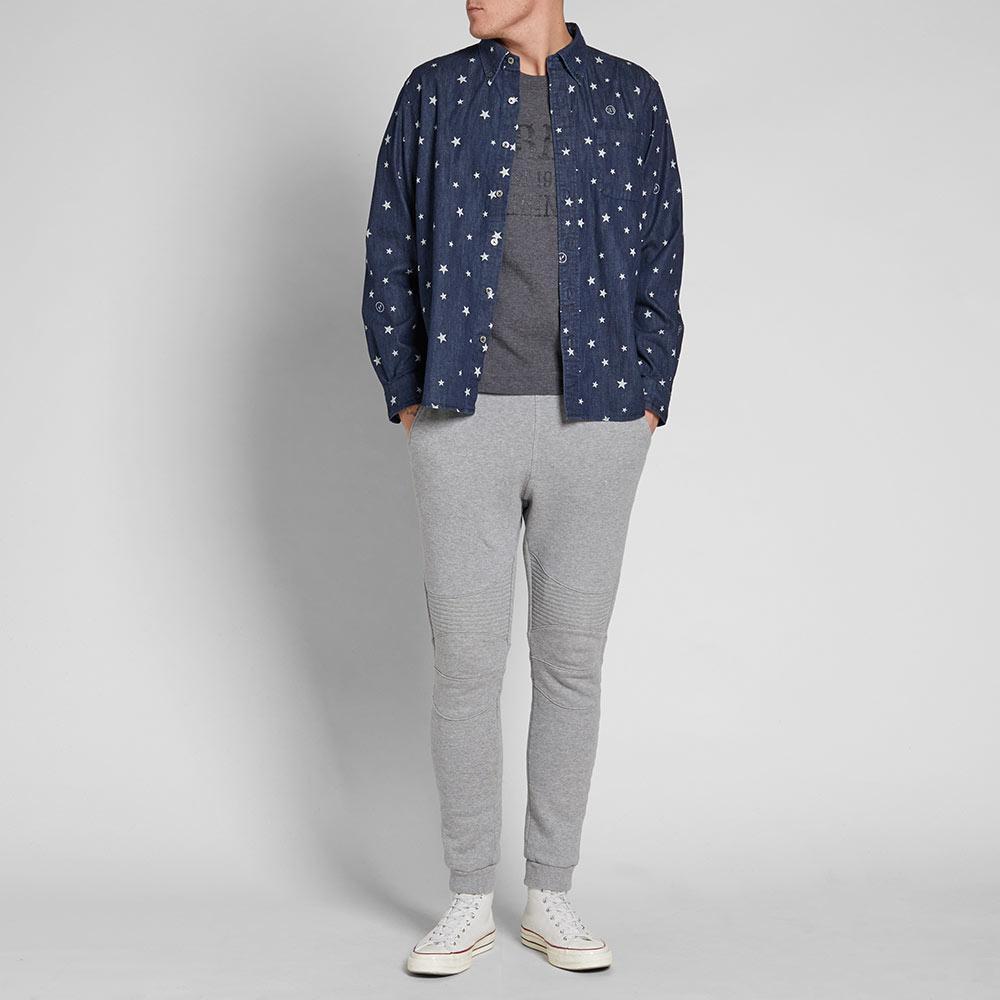 Uniform Experiment Cotton Indigo Star Shirt in Blue for Men