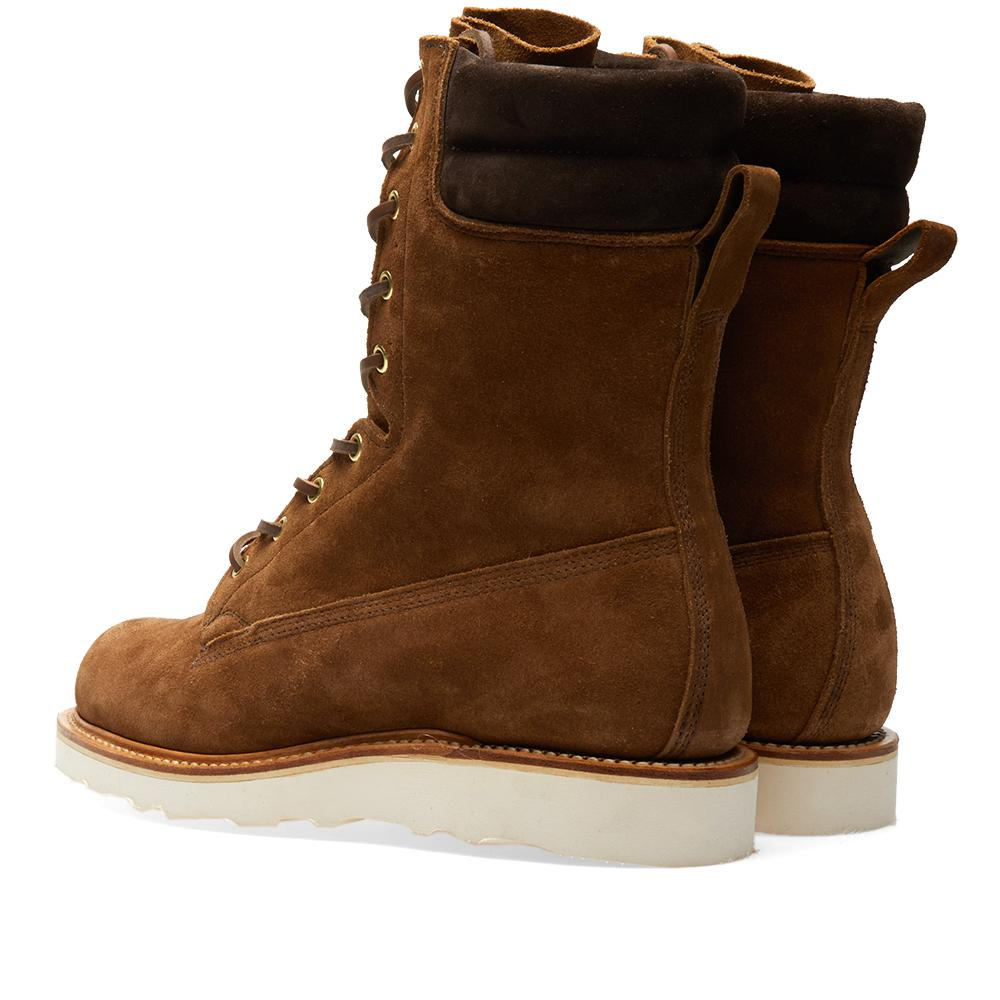 Viberg Suede Hunter Boot in Brown