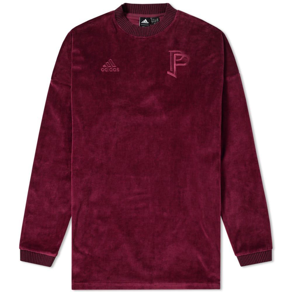 hot sale online 8a7e0 48bc8 adidas Cotton X Paul Pogba Long Sleeve Tango Tee in Burgundy ...