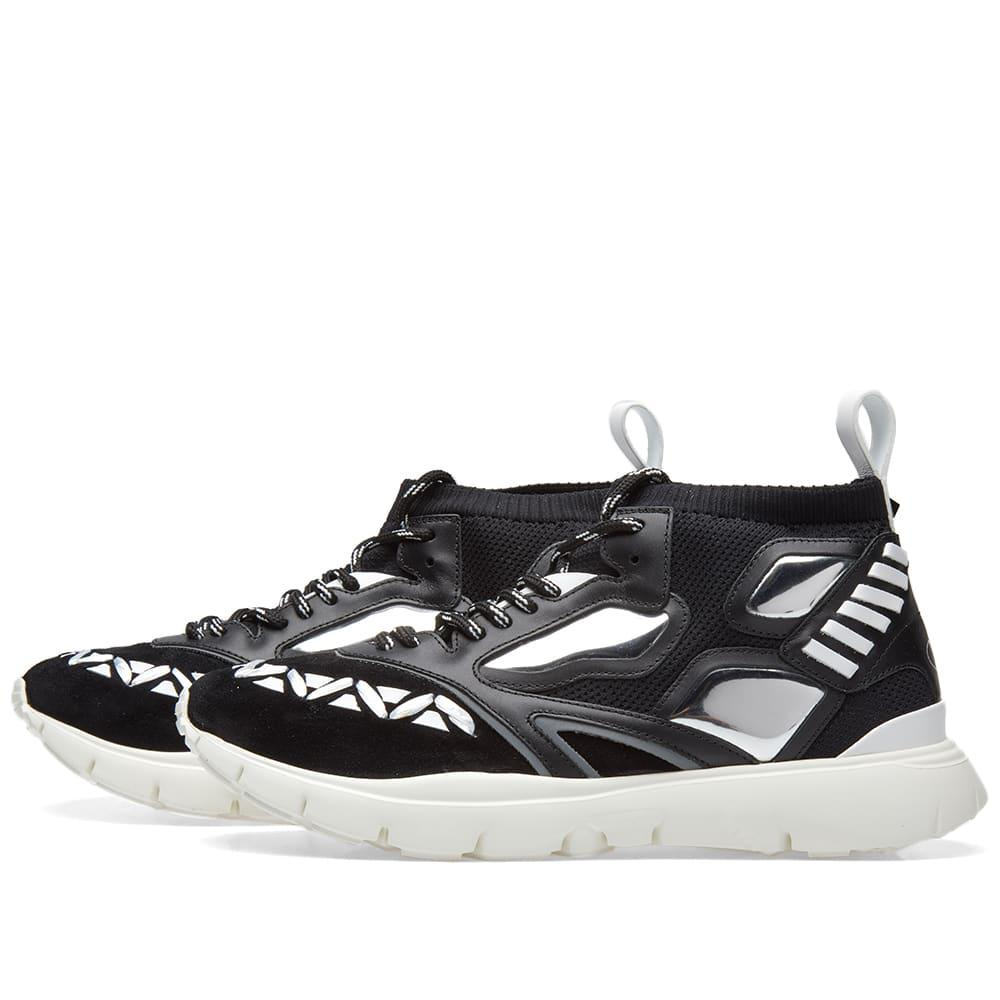 Valentino Leather Heroes Reflex Panel Sneaker In Black For
