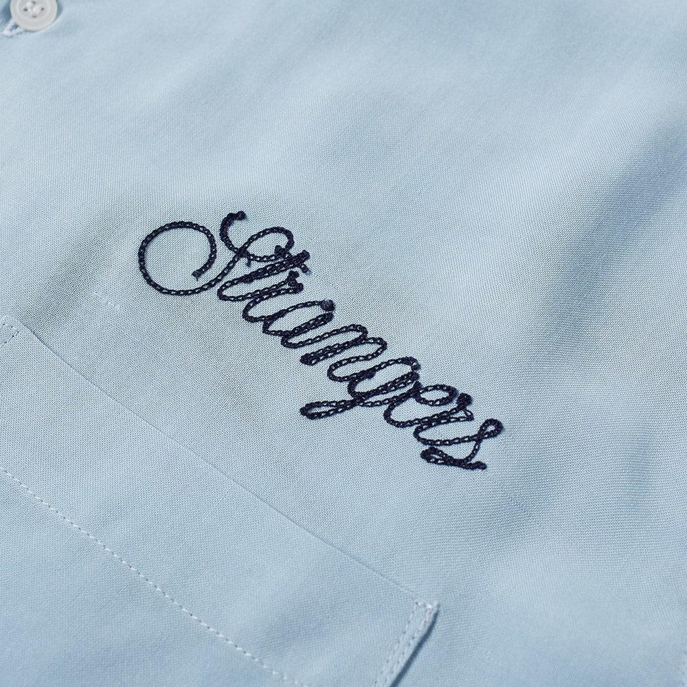 Strangers Satin Lightning Vacation Shirt in Blue for Men