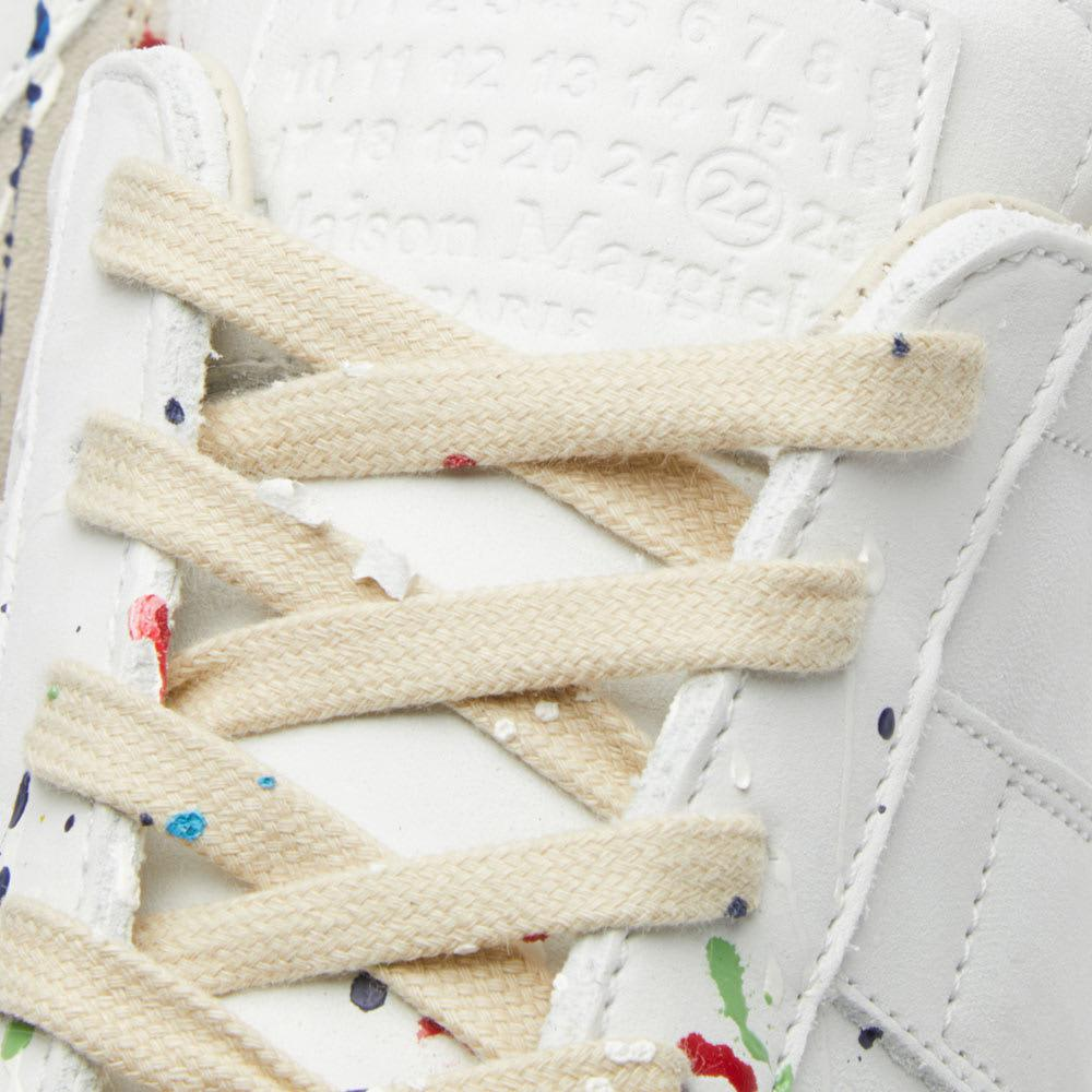 Maison Margiela Leather 22 Paint Replica Sneaker in White