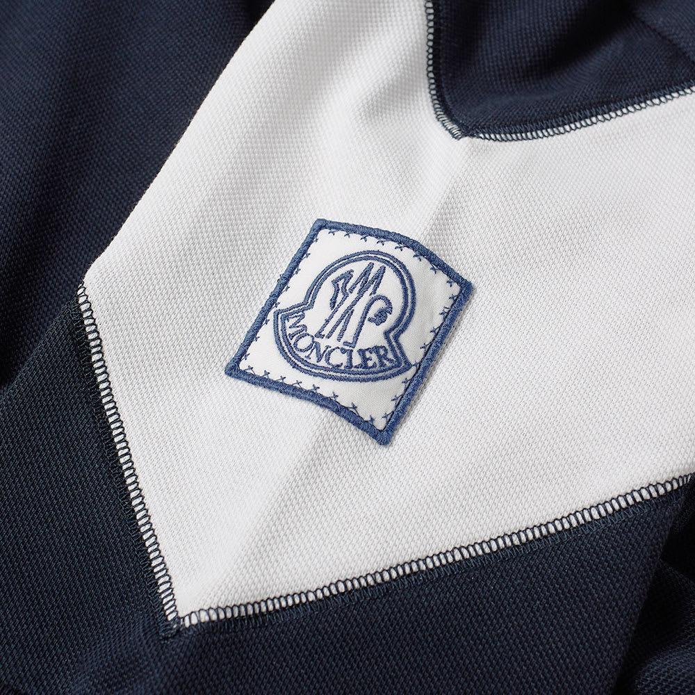 Moncler Gamme Bleu Cotton Chevron Polo in Blue for Men