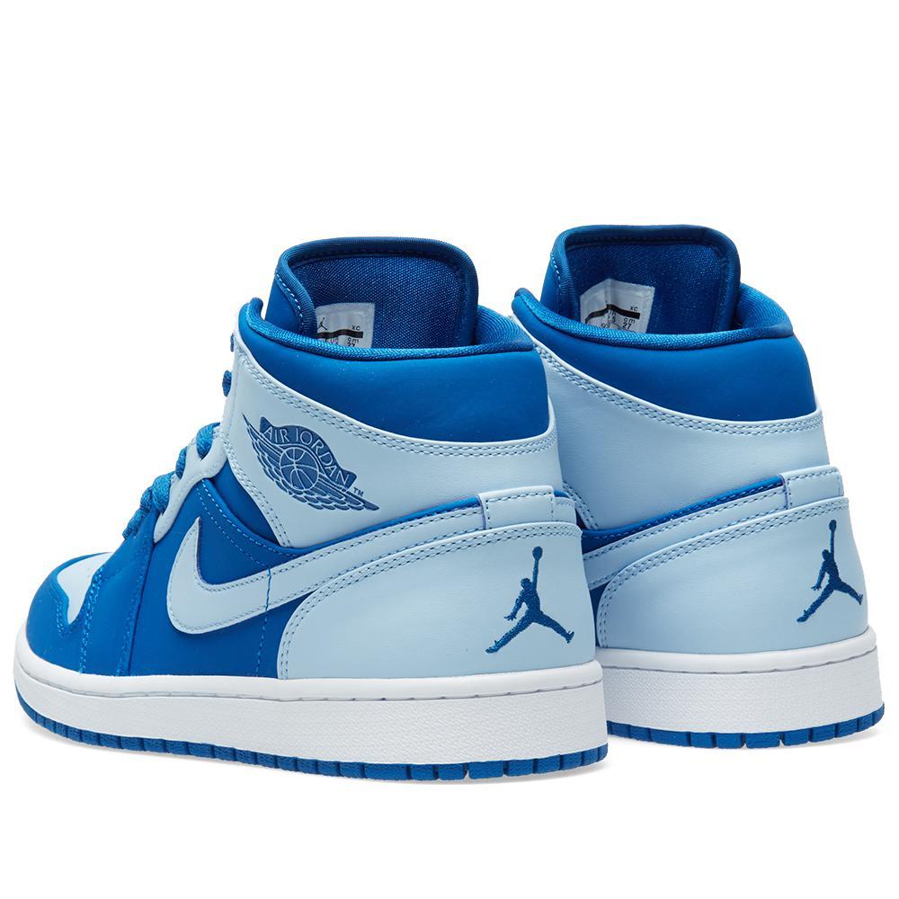Nike Nike Air Jordan 1 Mid In Blue For Men Lyst