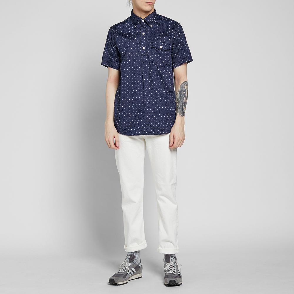 Lyst Engineered Garments Short Sleeve Popover Shirt In