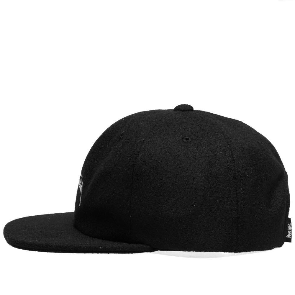 11b94c79706b Stussy - Black Melton Wool Strapback Cap for Men - Lyst. View fullscreen