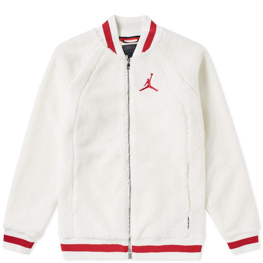 Nike Air Jordan Sportswear Aj 1 Fleece Jacket in White for Men - Lyst 3bb8db9af