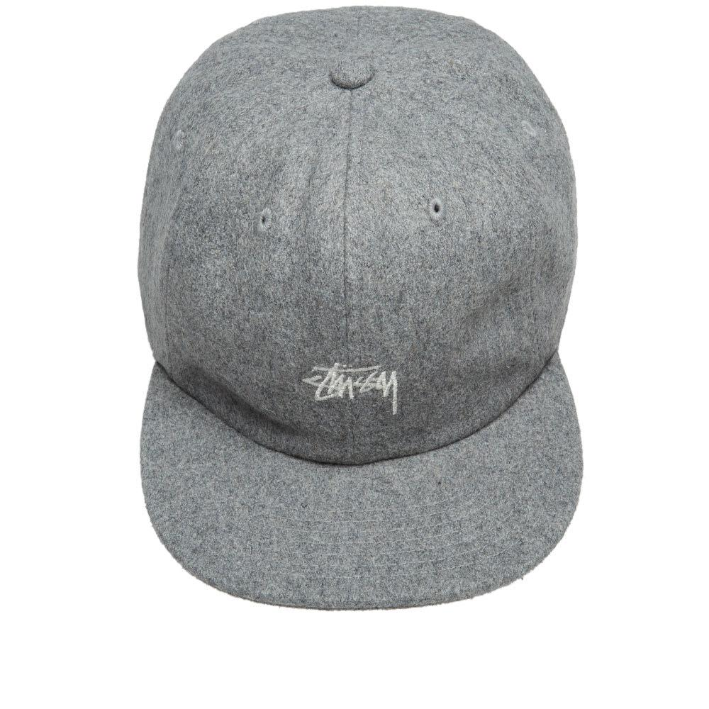 43e65e0500a Stussy - Gray Melton Wool Strapback Cap for Men - Lyst. View fullscreen