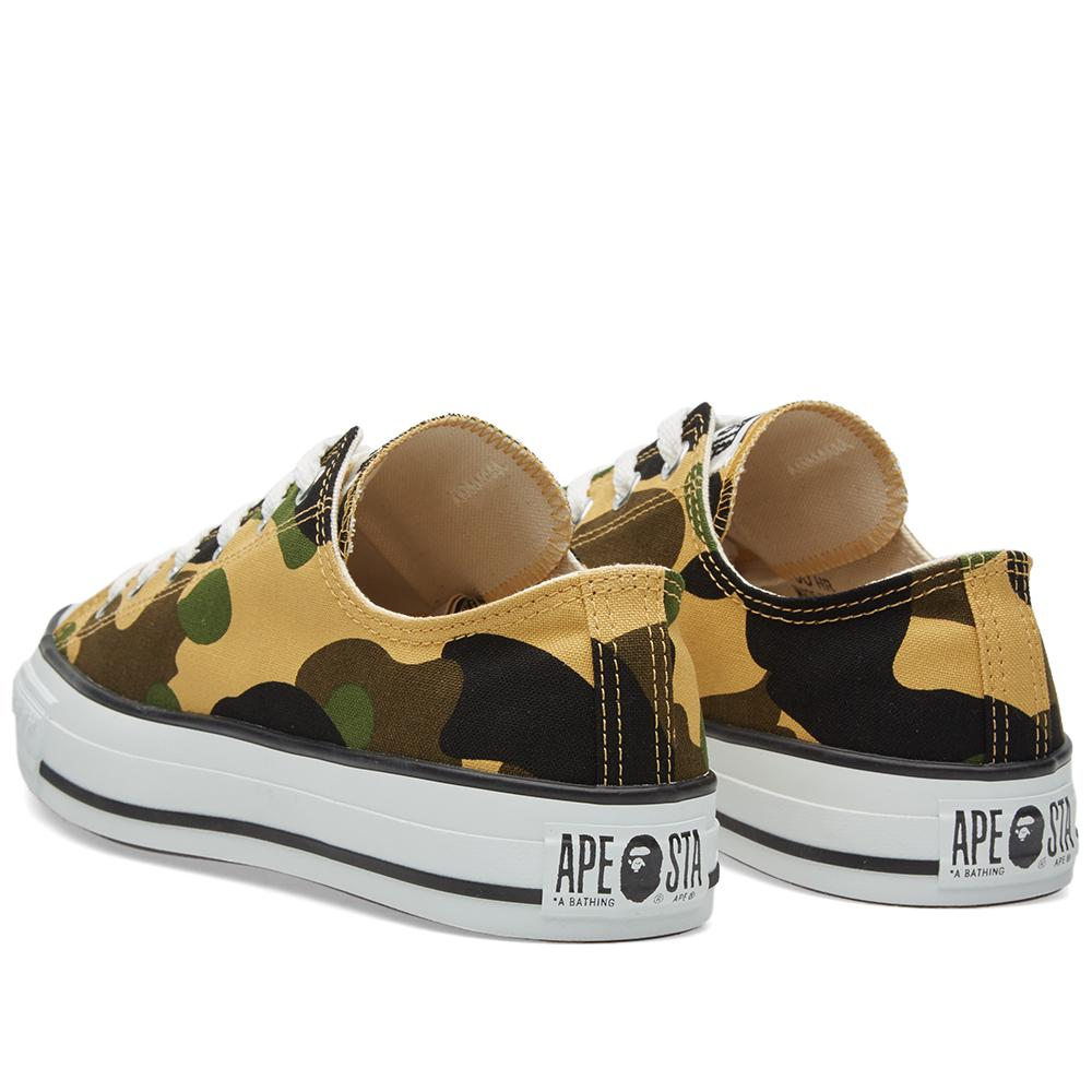 A Bathing Ape Rubber 1st Camo Ape Sta Low in Green for Men