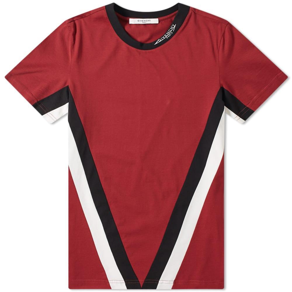 8a9da840a9d9 Givenchy - Red V Band Logo Collar Tee for Men - Lyst. View fullscreen