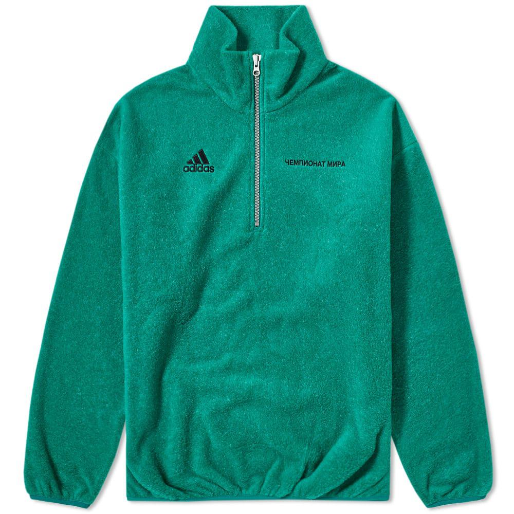 new style 0f7a2 90e23 Men's Green Adidas X Zipped Sweater