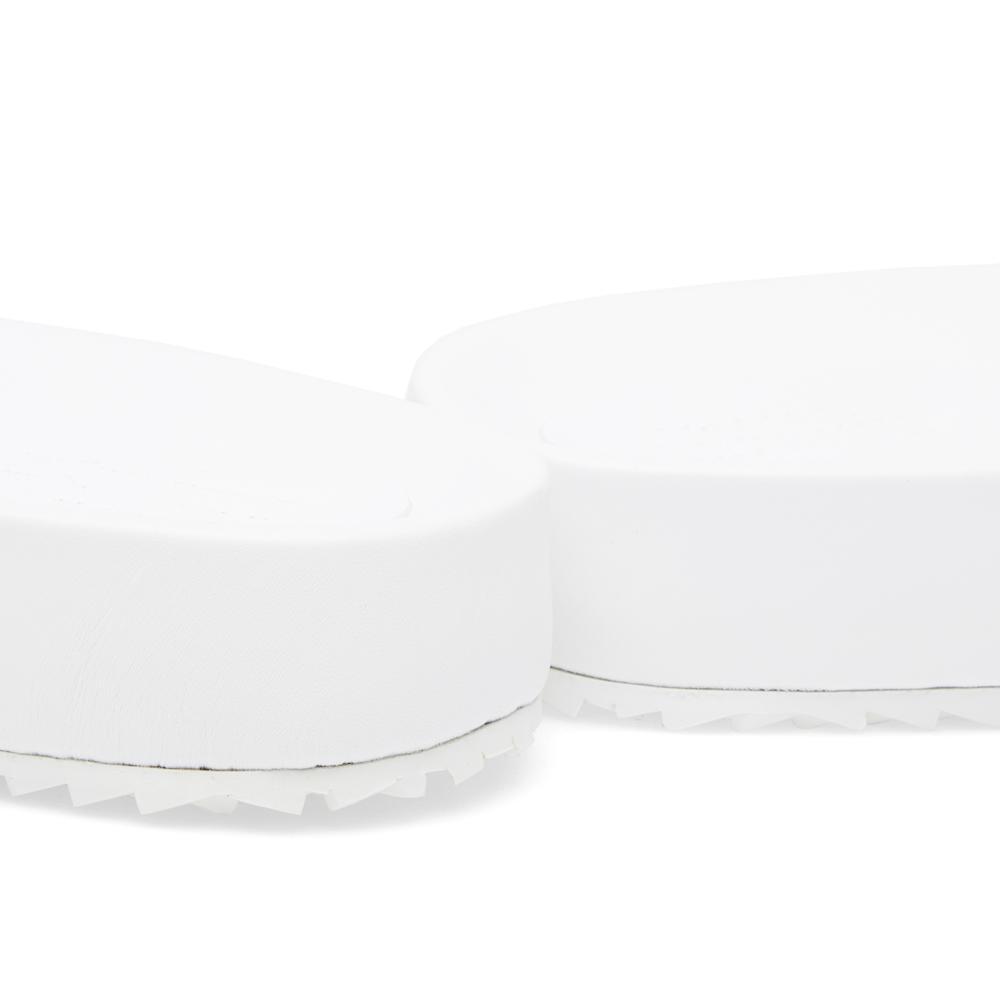 Lyst maison margiela 22 future pool sandal in white for men for Maison margiela 22