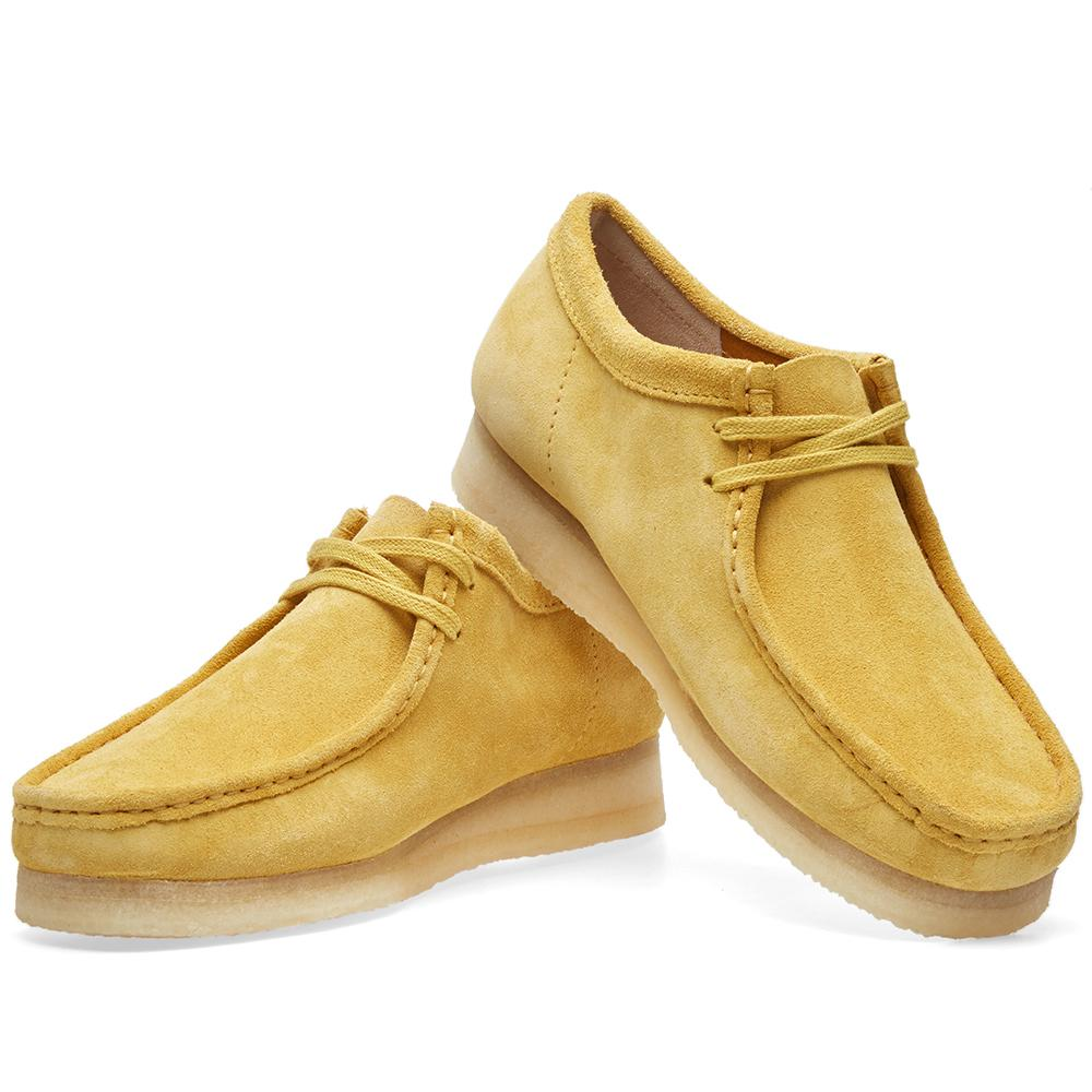 Clarks Suede Wallabee in Yellow for Men