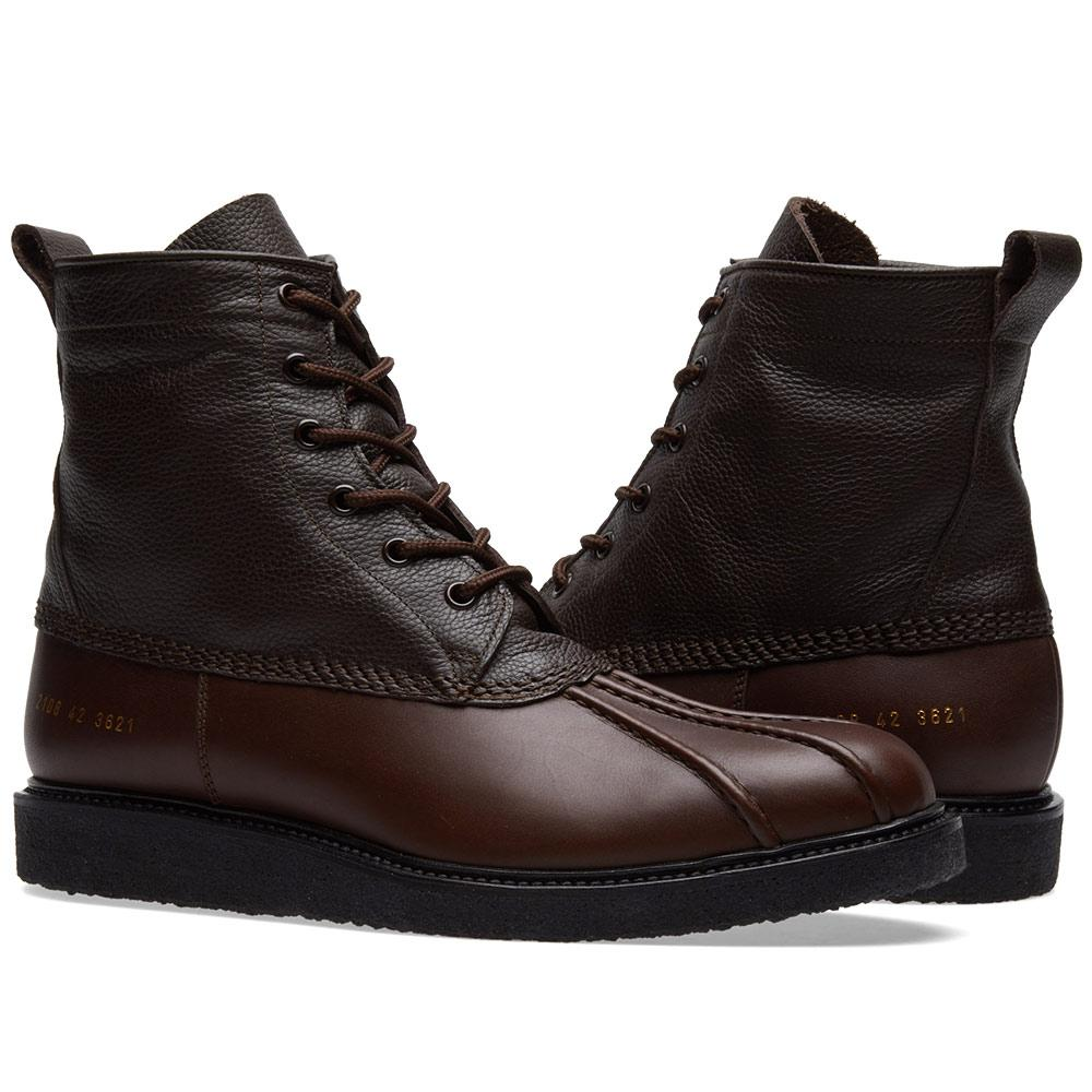 Common Projects Leather Duck Boot in Brown