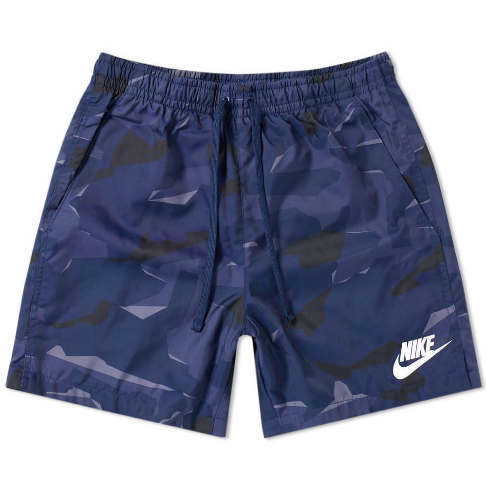 c93125947c Nike Flow Camo Woven Short in Blue for Men - Lyst