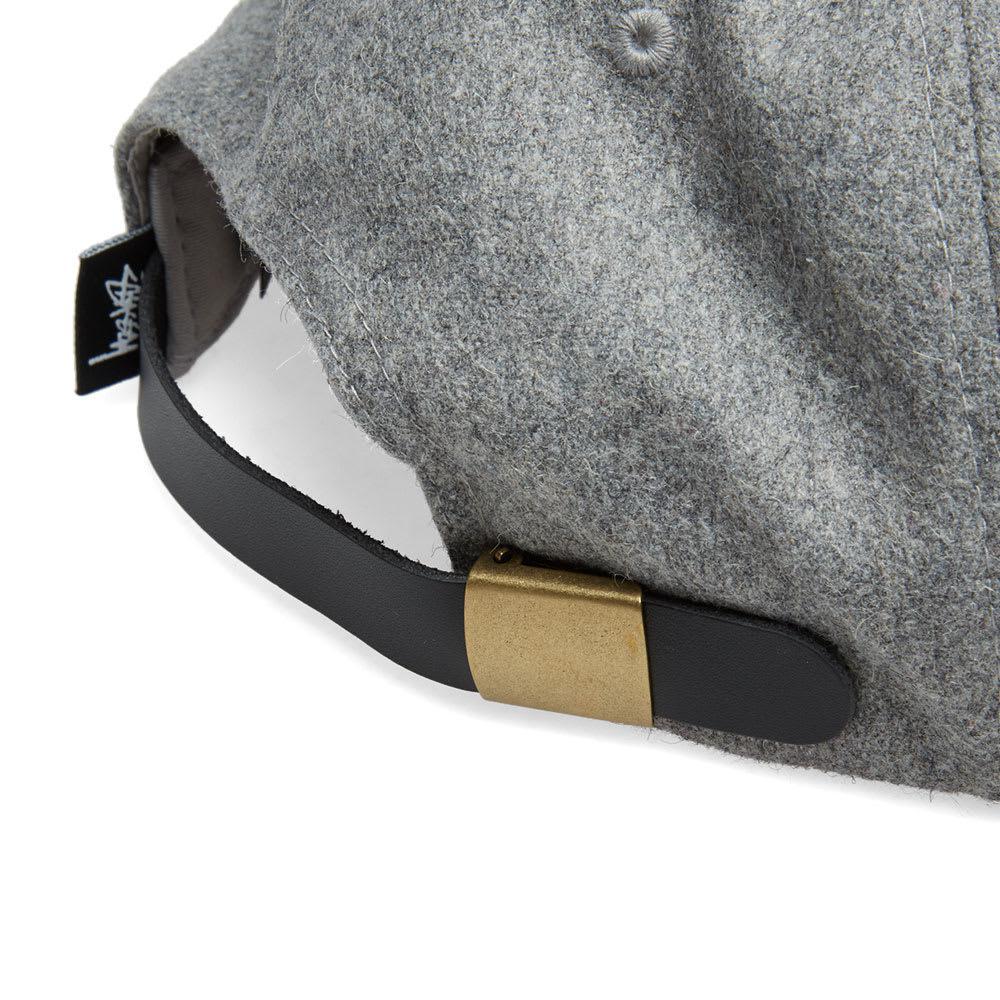 21761a96815d66 Stussy - Gray Melton Wool Cap for Men - Lyst. View fullscreen