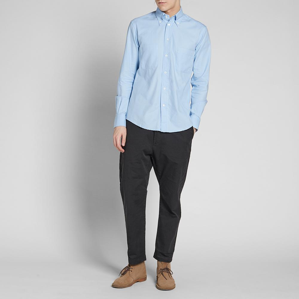 Barena button down terno oxford shirt in blue for men lyst for Tailored fit shirts meaning