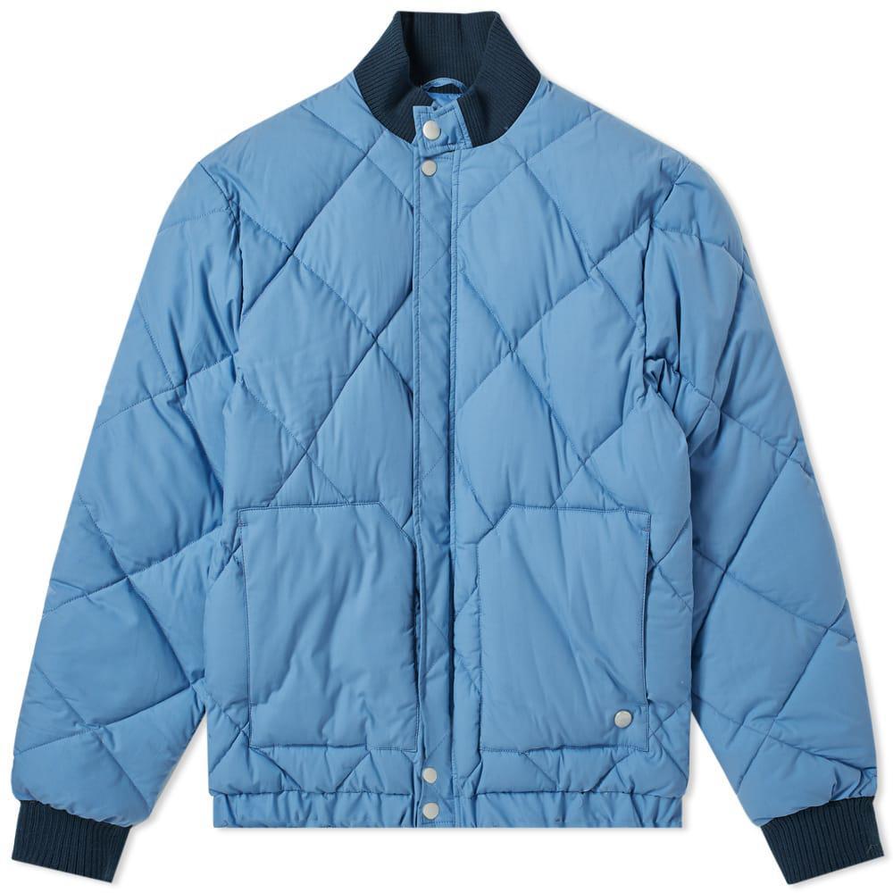 14e8ddcbb4b6 Nigel Cabourn X Peak Performance Short Down Jacket in Blue for Men ...