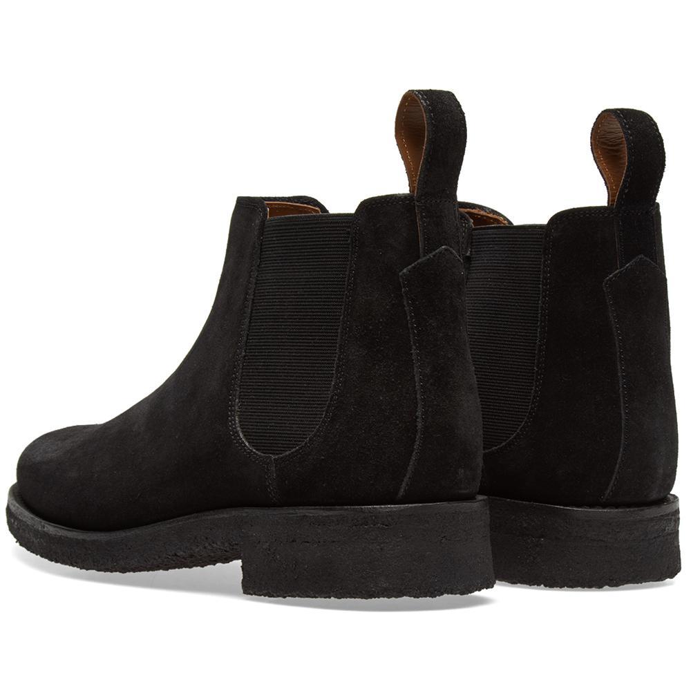 Grenson Suede Hayden Chelsea Boot in Black