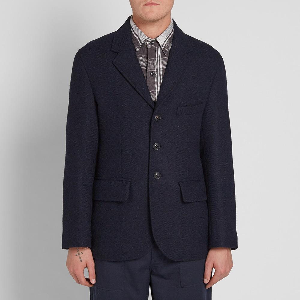 Nigel Cabourn Tweed Authentic Wide Lapel Jacket in Blue for Men