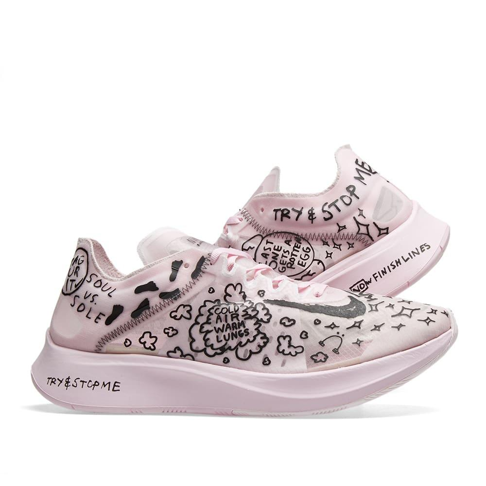 Men's Pink X Nathan Bell Zoom Fly Sp Fast