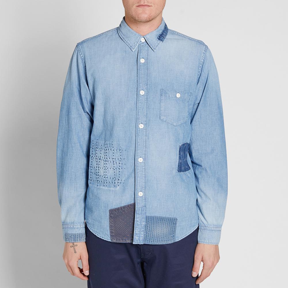 FDMTL Denim Shirt in Blue for Men